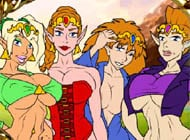 Legend of Zelda strip game